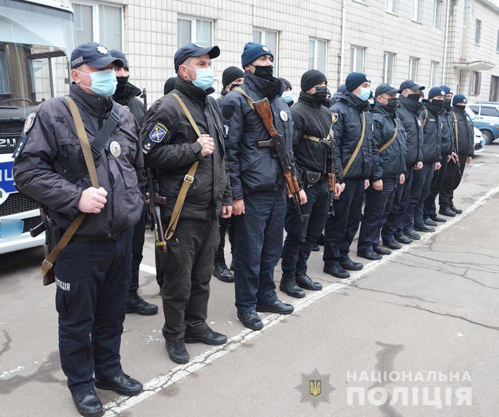 Із зони ООС повернувся зведений загін поліцейських під командуванням начальника Любарського відділення поліції