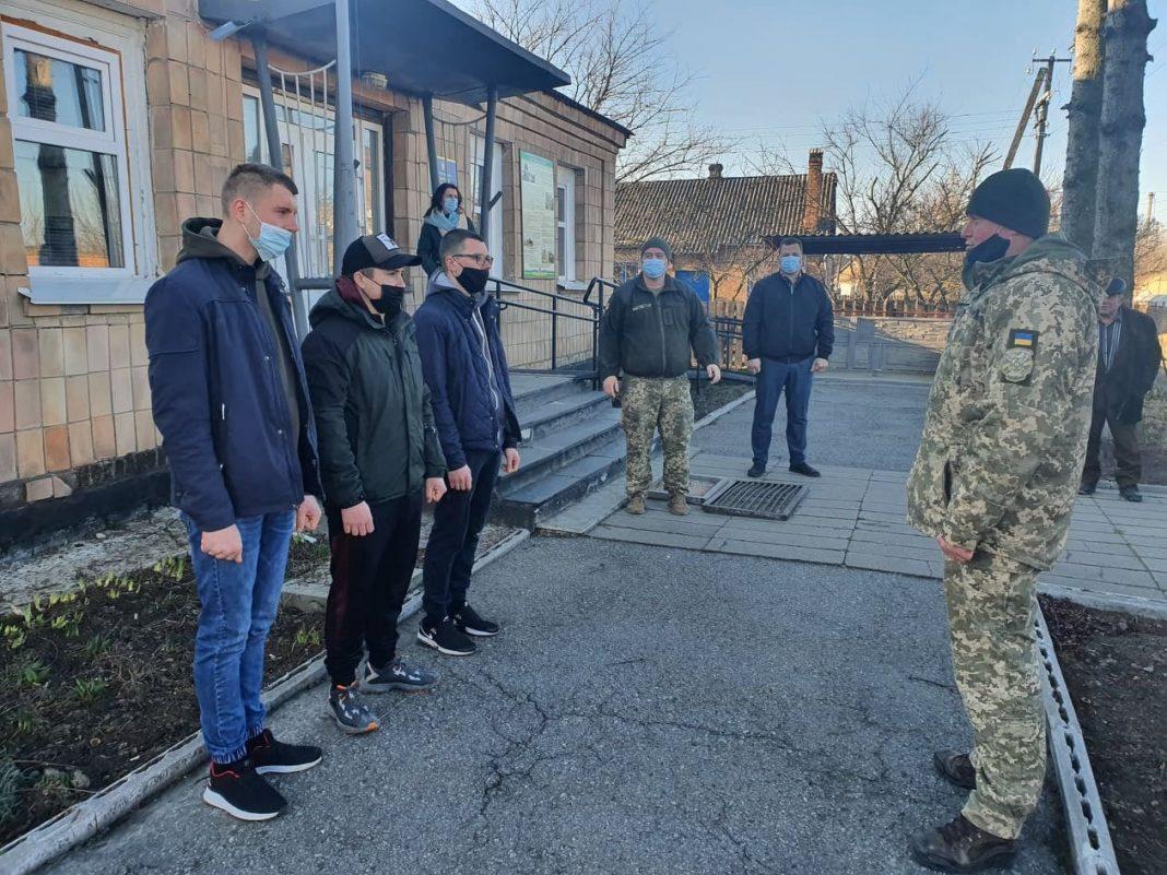 На Любарщині на строкову службу відправили перших трьох призовників