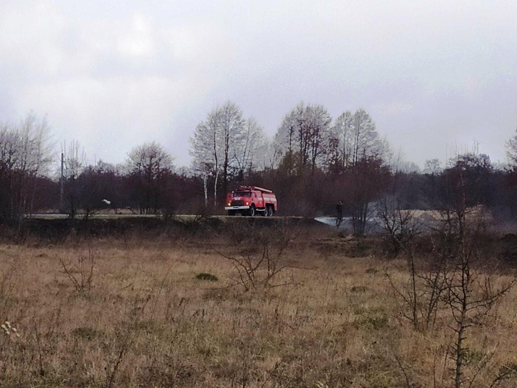 На Любарщині вигоріло 2 га сухої трави та ледь не загорівся ліс